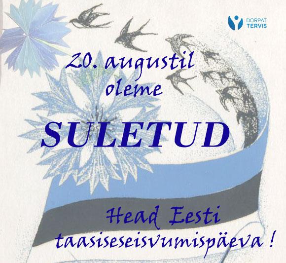 Head Eesti taasiseseisvumispäeva!!