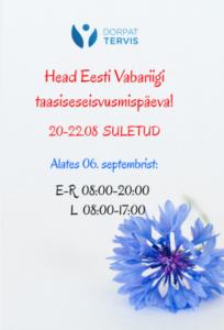 Head Eesti Vabariigi taasiseseisvumispäeva